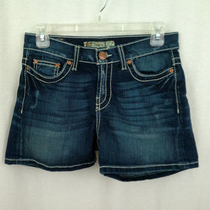 BKE womens shorts Size 26 Blue denim jeans shorts
